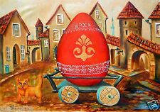 Painting Original oil on canvas Fine Art Russian Modern  by Pronkin surrealism