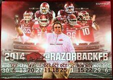 Arkansas Razorbacks 2014 Football Schedule Poster Red White Spring Game SEC