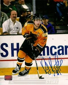 Ray Bourque Boston Bruins Signed Autographed Home Action 8x10 B