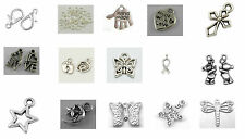 Silver Colour Charms, Jump Ring+Clasp Kit in a 15 compartment Case Approx 280pcs