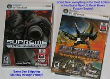 "Supreme Commander +Forged Alliance Expansion ""GOLD Bundle"" US Retail Boxes NEW"