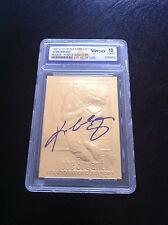 KOBE BRYANT 1996-97 EX-2000 AUTOGRAPHED WCG GEMMT 10 23KT GOLD ROOKIE CARD!