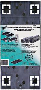 "Black Solar Group Universal Mailbox Mounting Bracket Board 4"" x 4"" PLMB0060"