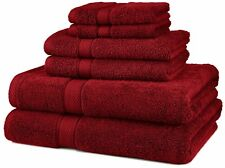 MONOGRAMMED 6 PCS.TOWELS SET - EGYPTIAN COTTON FROM PINZON - CRANBERRY