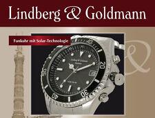 Lindberg&Goldmann Herren Funk-Solar-Uhr UVP 299 € jetzt 199 € NEU + Rechnung