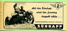 Zündapp-- mit der Zündapp wird der sonntag doppelt schön --Werbung von 1938