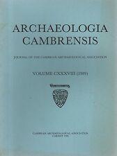 ARCHAEOLOGIA CAMBRENSIS (1989) St. ISHMAELS - DOLFORWYN - MYNYDD LLANGYNDEYRN