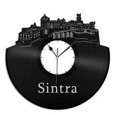 Sintra Vinyl Wall Clock City Skyline Unique Gift Home Room Office Decor
