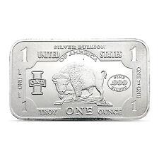 United States One Silver Bullion Buffalo/Bison 1 Troy oz .999 Fine Silver bar