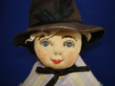 "15"" Welsh Woman Wales International Cultural Ethnic Cloth Doll 1930s-on"