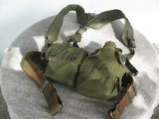 U.S. Military Web Belt with Suspenders First Aid Kit and Canteen OD Green ·  U.S. Military Web Cinturón con tirantes de ... 8cc8e4780aa5