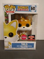 NEW FUNKO POP! GAMES SONIC THE HEDGEHOG TAILS #641 FLOCKED TARGET CON EXCLUSIVE