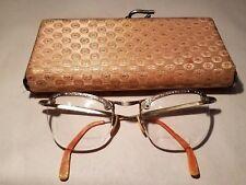 Vintage 40's 50' Coc Cat Eye Glasses 12k Gold Filled Wire Rim Rockabilly Starlet