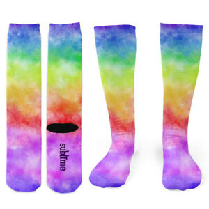 Rainbow Tie-Dye Knee Socks - Footnotes Novelty Socks