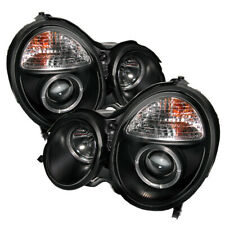 Mercedes Benz 00-02 W210 E320 E350 E430 E500 E55 Black Halo Projector Headlights