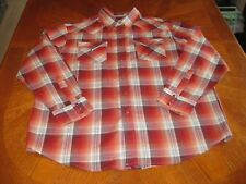 New XL Pendleton Long Sleeve Plaid Western Shirt Frontier Pearl Snaps Multicolor