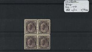 Canada 1898 SG.149 Block U/M