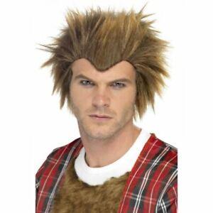 Werewolf Brown Wolfie Wig Halloween Fancy Dress Costume Accessory