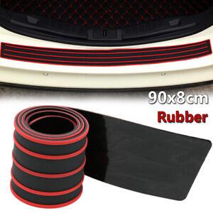 Car Rear Bumper Sill Protector Rubber Cover Guard Pad Moulding Trim 90x8cm Red