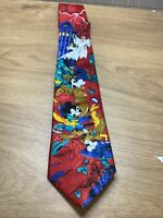 Disney Mickey Mouse Tie Collectable Mens Goofy Pluto Haunted House Ghosts