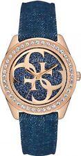 Guess W0627L3   Reloj De Mujer Correa   Azul Denim Piedra   RRP £ 190