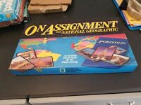 Brand New Vintage 1990 On Assignment With National Geographic Travel Board Game