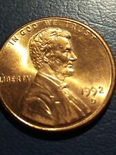 """1992 D """" Close Am """" Lincoln Penny Cent Highly Sought After by Collector's Look!"""