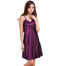 Sexy Women Satin Silk Lingerie Pajama Dress Night Gown Suspender Skirt Sleepwear