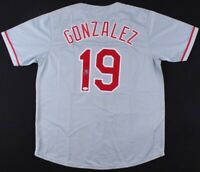 Juan Gonzalez SIGNED Vintage Texas Rangers Game Jersey ~ 2x AL MVP (JSA COA)