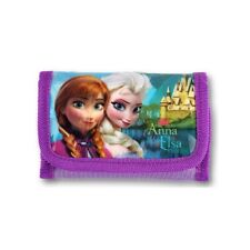Frozen Tri-Fold Wallet with Shiny Front with Anna and Elsa