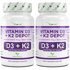 Vitamin D3 20.000 I.E. + Vitamin K2 200mcg 360 Tabletten MK-7 Menachinon-7 IE IU