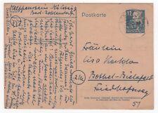 1950 GERMANY Russian Zone Cover BERLIN -BETHEL bei BIELEFELD Stationery Postcard