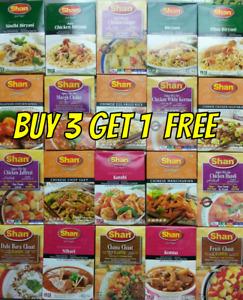 SHAN MASALA Recipe & Seasoning Mix / Biryani BBQ Kebab Curry Spice - 55 VARIETY