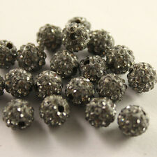 Wholesale 30pcs 8MM CZ Shamballa Crystal Clay beads Pave Disco Balls pk colors
