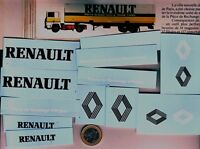 decals decalcomanie deco pour remorque renault 1/87 et divers 1/43 diorama etc