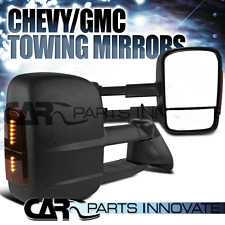 88-98 Chevy GMC C10 C/K Yukon Suburban Towing Side Mirrors Manual+LED Signal