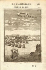 CALLAO. View of the fortified town & port. Lima, Peru. Many ships. MALLET 1683