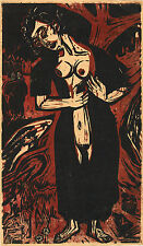 Ernst Kirchner Reproduction: The Suicide (Die Selbstmoerderin) - Fine Art Print