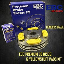 EBC 290mm REAR BRAKE DISCS + YELLOWSTUFF PADS KIT SET OE QUALITY PD03KR431