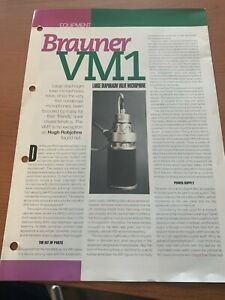 Brauner VM1 Prospect original Reprint from SoundPro 1997