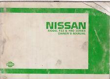 NISSAN F22 H40 TRUCK 1.6 2.0 2.4 2.8 2.3 2.7 3.5 BENZINA DIESEL 1987 manuale del proprietario