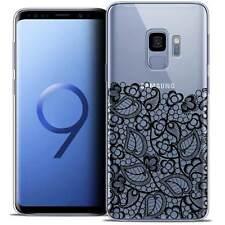 """Coque Crystal Gel Pour Samsung Galaxy S9 (5.8"""") Souple Spring Bas dentelle Noir"""
