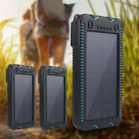 6000mAh Portable Waterproof Solar Charger Dual USB External Battery Power Bank
