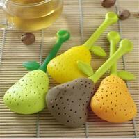 Silikon-Birne Design Tea Leaf Sieb Kräutergewürz-Infuser Teekanne Filter CJ
