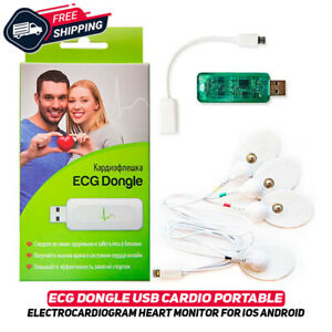 ECG Dongle USB Cardio Portable Electrocardiogram Heart Monitor iOS Android New