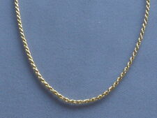 """NEW  18"""" GOLD OVER ITALIAN STERLING SILVER ROPE NECKLACE  -035-1.6mm-ITALY 925"""