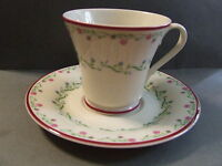 VINTAGE TEA CUP / SAUCER TOWN AND COUNTRY GORHAM 1981 PINK FLORAL