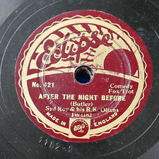"""78rpm 8"""" SYD ROY & R K OLIANS after th night before / one of th lads of valencia"""