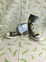 Converse Xhi UK 7 Grey and Sky Blue High Tops - 13 eyelets Chuck Taylor All Star
