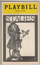 "Jack Warden  ""Stages""  Playbill  Preview  1978  FLOP  Lois Smith, Philip Bosco"